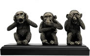 Speak, Hear, See No Evil Monkeys Statue