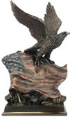 Stars and Stripes-Eagle with Flag Statue