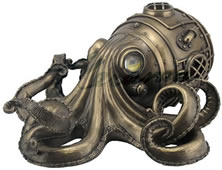 Steampunk Octopus Secret Trinket Box