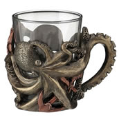 Steampunk Octopus Shot Glass With Handle