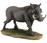 Standing Warthog Statue -Color