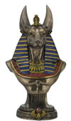 Anubis Egyptian God of the Dead Bust