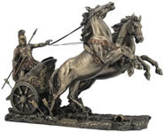 Achilles in Chariot Statue