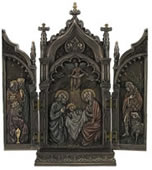 Nativity In Cathedral Triptych