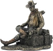Cowboy and Best Friend Statue