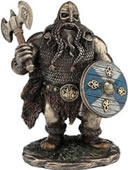 Viking Warrior with Axe Statue