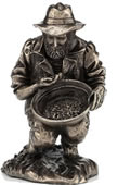 Prospector-Panning for Gold Statue