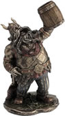 Viking Warrior with Mug Statue