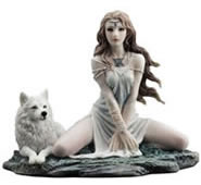 Call of the Wild Statue- Elf Maiden and Wolf