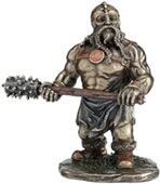 Viking Warrior with Club Statue
