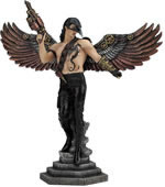 Crow-Masked Winged Steampunk Warrior Statue