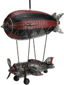 Steampunk Airship With Propeller Gondola