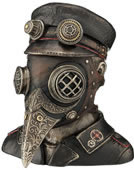 Steampunk Plague Doctor Bust Trinket Box