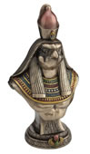 Horus Egyptian Sky God Bust On Base