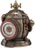 Steampunk Time Machine Trinket Box Clock