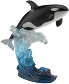 The Leaping Orca Whale Statue