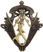 Steampunk Mermaid Wall Mirror