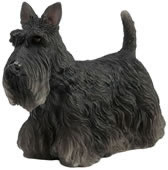 Black Scottish Terrier Dog Figurine