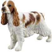Cocker Spaniel (Red and White) Dog Figurine
