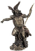 Zeus Holding Thunderbolt With Eagle Statue- 11.75 Inch