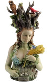 Gaia Statue- Greek Primordial Goddess Of Earth (Color)