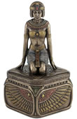 Art Deco - Kneeling Egyptian Queen Trinket Box