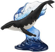 Humpback Whale on Wave Statue