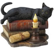 The Witching Hour Black Cat Statue
