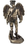 Steampunk Winged Male Pilot Statue