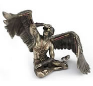 Steampunk Winged Male in Goggles Statue