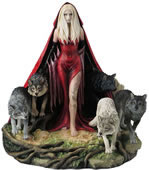 Howl- Mystery Lady with Wolfpack Statue