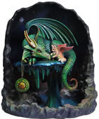 Emerald Time Dragon Statue