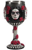 Sugar Skull Rose Goblet