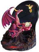 Time Dragon Scarlet Rose Statue