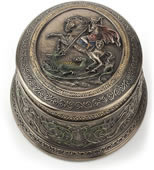 Saint George Slaying Dragon Trinket Box
