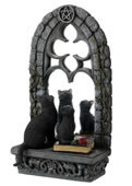 Two Cats Staring Out Window/Mirror Stand