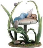Sweet Dreams Fairy on Mushroom Statue
