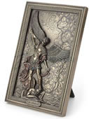 Saint Michael Tramples Demon Wall Plaque