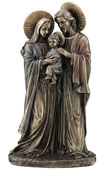Holy Family Statue- Joseph and Mary Holding Young Jesus