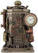 Steampunk Mysterious Container Clock Trinket Box