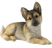 German Shepherd Puppy Figurine