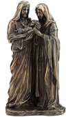 Holy Family Statue- Joseph and Mary Holding Baby Jesus