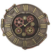 Steampunk Rivet Metal Plate Wall Clock