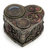 Steampunk Heart Shape Trinket Box