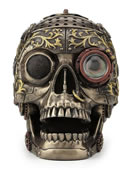 Steampunk Decorative Skull With Moveable Jaw