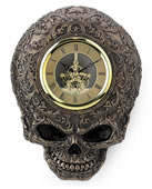 Steampunk Decorative Flat Skull Wall Clock