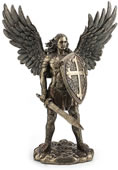 Archangel Saint Michael With Sword/Shield Statue