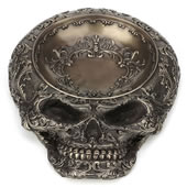 Steampunk Decorative Flat Skull Vessel