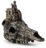 Steampunk Machinarium On Top Of Decorated Skull