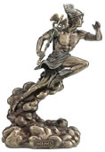 Hermes Running With Caduceus Statue